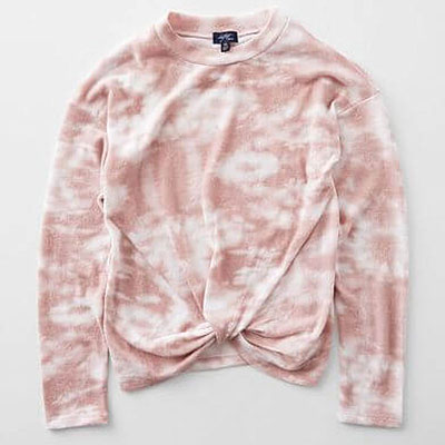 Girls – Tie Dye Twisted Hem Pullover at Buckle