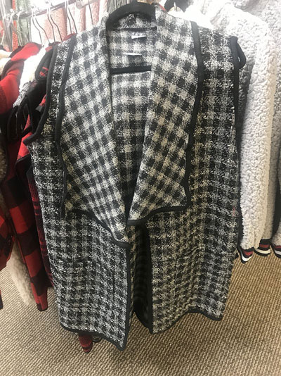 Grey and White Coat at Poky Dot Boutique