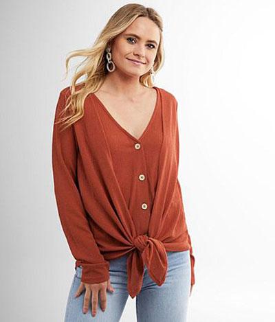 Shop Pocatello Buckle textured knit top