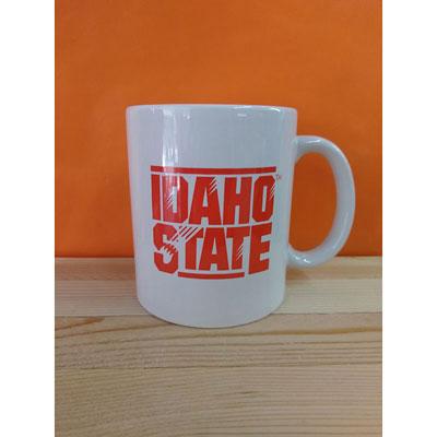Shop Pocatello Orange and Black Store White Mug