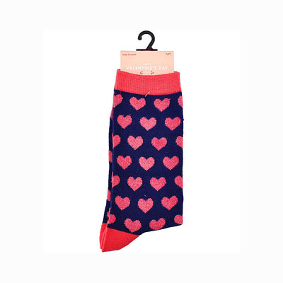 All Over Heart Valentine's Day Crew Socks at JOANN Fabrics and Crafts